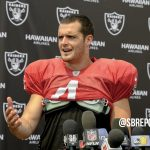 "VIDEO: Derek Carr On Being Interception By The Lions: ""[Laughs It Off] On A Stupid Scramble Drill, Too"""