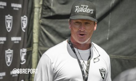 "VIDEO: Gruden On False Starts In Practice Today: ""Pre-snap penalties make me sick…I'm sick now. I don't feel like eating."""