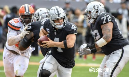 "VIDEO: Derek Carr On OT Brandon Parker: ""He's One Of The Smartest Rookies I've Ever Been Around"""