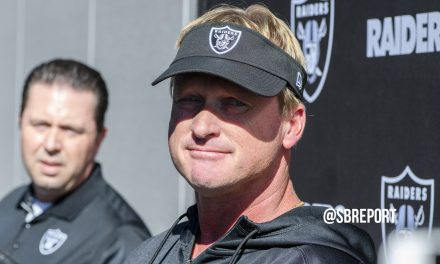 "VIDEO: Jon Gruden: ""I don't see us making any more trades."""