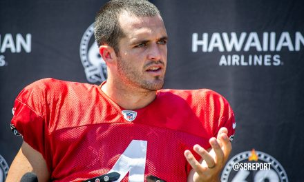 "VIDEO: Derek Carr On Johnathan Abram: ""That Guy, He Never Needs To Change. I Love 'Em"""