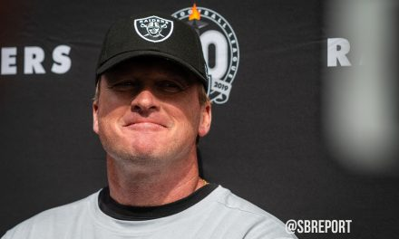 "VIDEO: Jon Gruden During The Bye Week: ""There's Not Time To Rest"" And Trent Brown Is Nursing A Calf Injury"