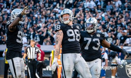 """VIDEO Raiders +5 In Turnovers The Last 3 Weeks: Maxx Crosby, """"It Comes Down To Us [D-Line]…Making The QB Get Rid Of The Ball"""""""